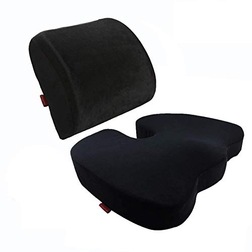 Memory Foam zitkussen Terug Lendensteun Therapeutische Orthopedische Pain Ergonomisch Prevent Lower ischias Disc Coccyx Tailbone Stress-freeChairs Seat verbeteren van de houding Instant Relief Recline