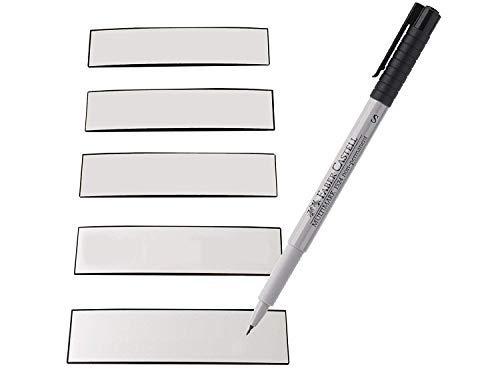 Magnetstreifen Etiketten weiß 83x19 mm - 50 Stück - beschreibbar incl. Stift