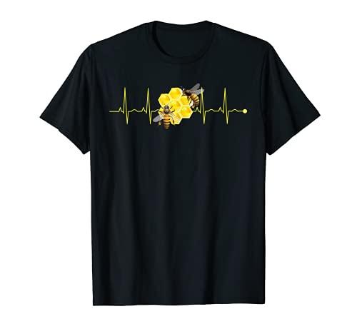latido del corazn Abeja apicultor miel y abejas Camiseta