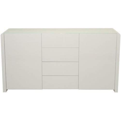 Phoenix Atlanta Sideboard, Holz, Weiss Hochglanz, 45 x 150.1 x 78.8 cm