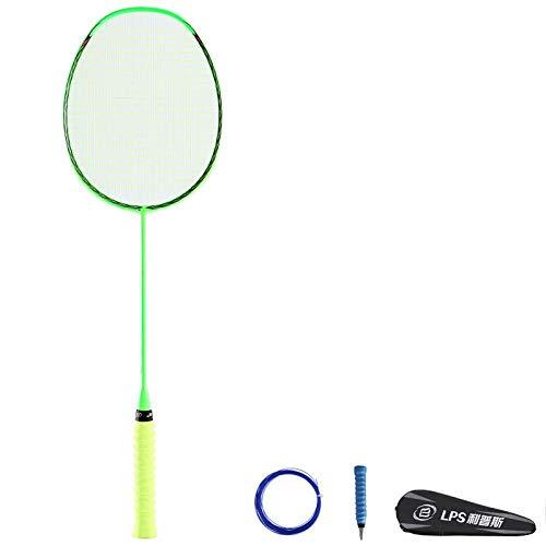 Full carbon badmintonracket professioneel heren en dames ultralicht badmintonracket beginner-green_660mm