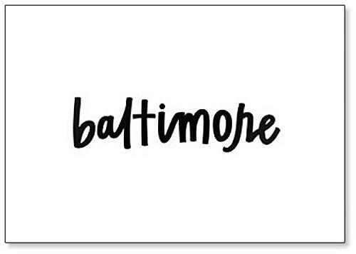 Aimant de réfrigérateur Typographie Baltimore