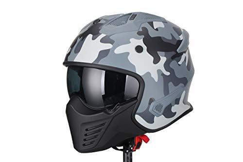 VITO Jet Bruzano camouflage Motorradhelm Jethelm Streetfighter Motorrad Helm Größe M