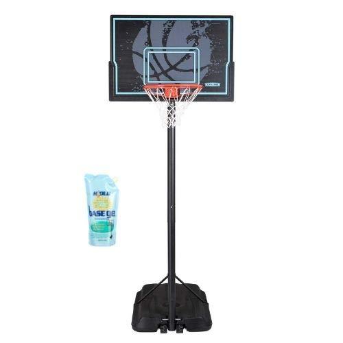 "Lifetime 44 in. Impact Adjustable Portable Basketball Hoop, 90759 (Black, 44"" with BaseGel)"