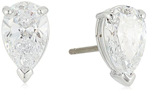 Swarovski Attract Pear Shaped Pierced Stud Earrings with Clear Crystals on...