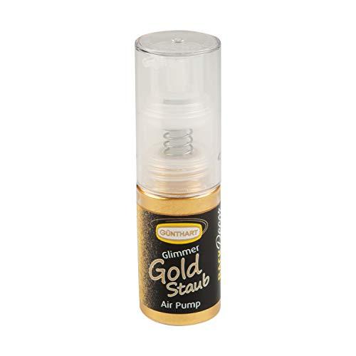 Backdecor 10g Pumpspray - Glimmer Gold Staub   Essbar   Zum Verzieren von Pralinen, Schokolade, Fondant, Marzipan