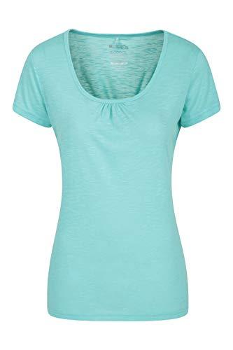 Mountain Warehouse Agra Damen-T-Shirt - leichtes, schnell trocknendes, atmungsaktives Sommer-Oberteil mit hoher Feuchtigkeitsregulierung - für Sport, Wandern, Freizeit Minze 36