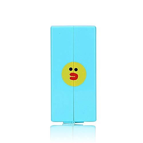 Jeu de pinceaux de maquillage 8 bâtons portables plastique en boîte tige courte maquillage beauté multifonction bleu 2