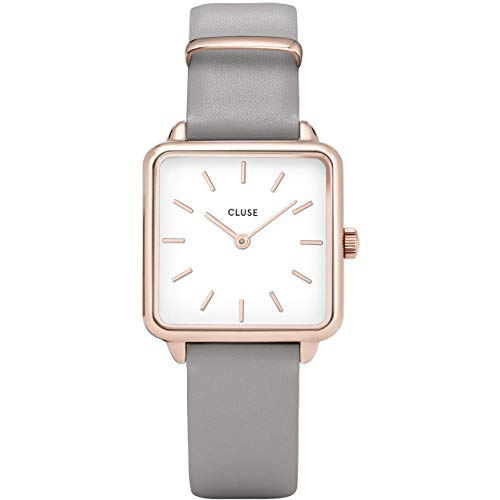 CLUSE Damen CL60005 La Garçonne Armbanduhr, Rose Gold White/Grey