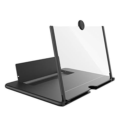 Bildschirmlupe für Mobiltelefone, 12-Zoll-Bildschirmlupe für Mobiltelefone, Bildschirmverstärker für 3D-HD-Telefone, tragbar zum Ansehen von Filmen, Videos und Spielen