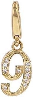 ノンブル NOMBRE ノンブルプティ ナンバ-チャ-ム【9】【正規品】 W50163YG 新品 ジュエリ- ネックレス ペンダントトップ 18K素材 ダイヤモンド