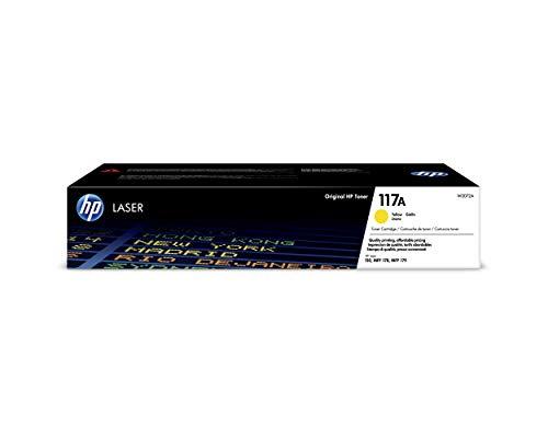HP 117A W2072A, Amarillo, Cartucho Tóner Original, de 700 páginas, para impresoras HP Color Laser Serie 150, MFP 178 y 180