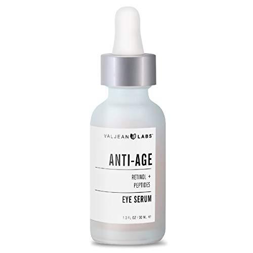 my anti aging eye serums Valjean Labs Anti Age Eye Serum   Retinol + Peptides   Helps Reduce Fine Lines   Paraben Free, Cruelty Free, Made in USA (1 oz)