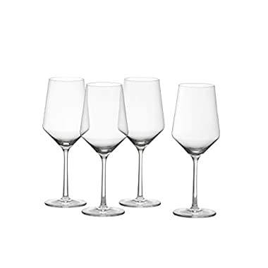 Schott Zwiesel Tritan Crystal Glass Pure Stemware Collection Cabernet/All Purpose, Red or White Wine Glass, 18.2-Ounce, Set of 4