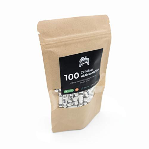 KAiLAR 100 Cellulose Aktivkohlefilter Slim (5.9mm) mit Kokosaktivkohle