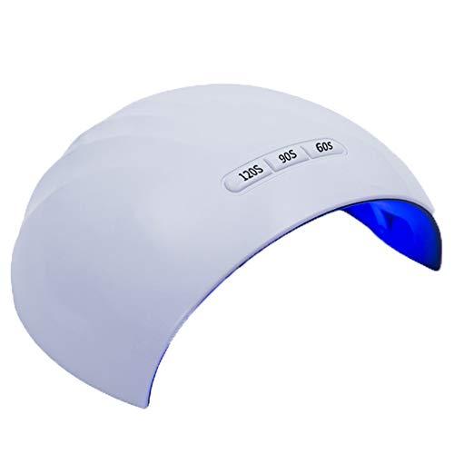 Nail Polish Durcissement Lampes, 24W UV LED Light Nail Dryer Lampe avec Durcissement Capteur Infrarouge for Ongle & Ongle (3 Réglages De Synchronisation) Cadeau (Couleur : Blanc)