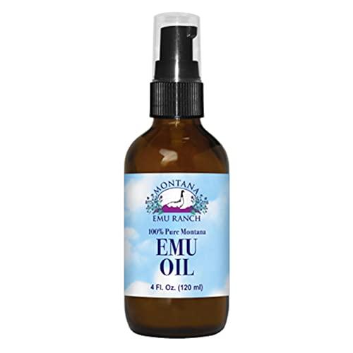 100% Pure Montana Emu Oil Montana Emu Ranch Co. 4 oz Liquid