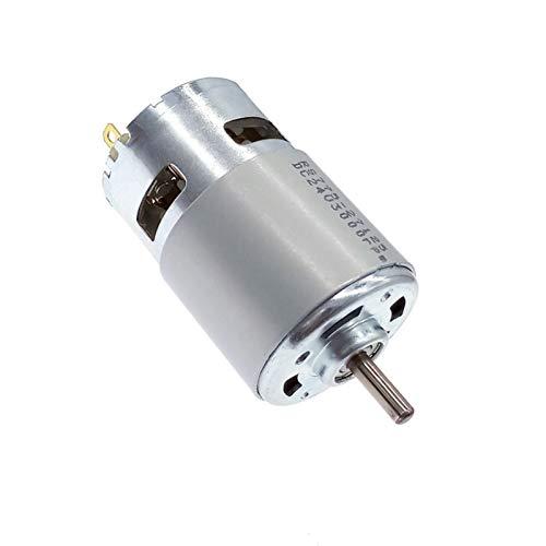 Motor eléctrico DC 12V Motor 775 24V rodamiento de bolas doble 3000RPM4500RPM6000RPM8500RPM10000RPM RS775 Torque grande Bajo ruido Para generador de bricolaje