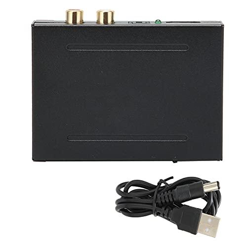 WAQU Divisor de Audio - Interfaz Multimedia HD Divisor de Audio Decodificador de Audio HD Adaptador de Audio 4K para proyector
