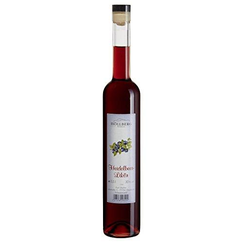 Heidelbeer-Likör Höllberg 30% vol, (1 x 0.5 Liter) Heidelbeer-Likör ohne Aromastoffe