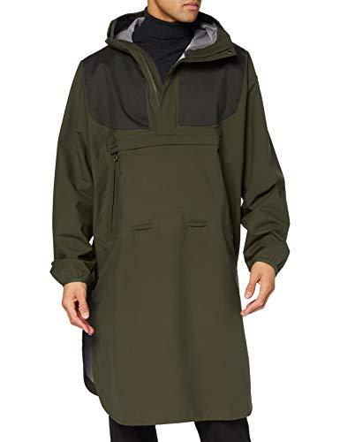 Fjallraven Lappland Eco-Shell Poncho Sport Jacket, Dark Olive, S/M