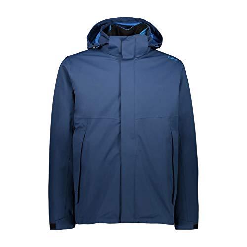 CMP 3-in-1-Jacke mit abnehmbarem Innenfleece für Herren, blau, 50