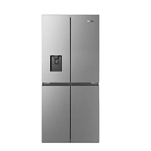 Hisense 507 L Frost-Free Multi-Door Refrigerator with Water Dispenser (RQ561N4ASN, Stainless...