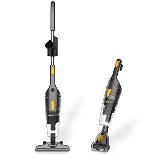 Stick Vacuum Cleaner 4 in 1, Corded Stick Vacuum for Hardwood Floors and Small Vacuum Cleaner pet Hair, aspiradoras para piso y alfombras, Lightweight Vacuum Cleaner Corded, with 600W 15 Kpa Power