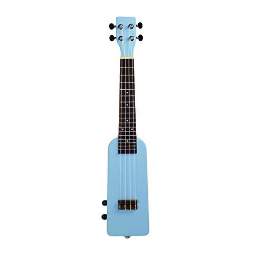 YSJJWDV Ukelele eléctrico de estilo azul, ukelele eléctrico de 58,4 cm, ukelele eléctrico silencioso, azul (tamaño: 58,4 cm)