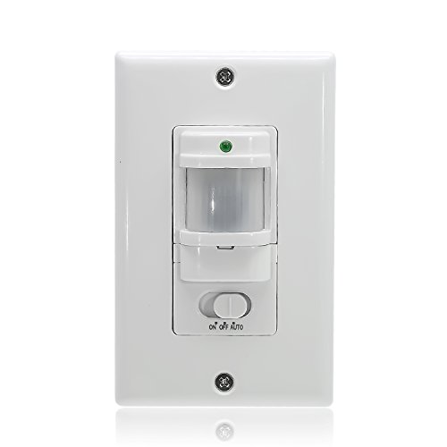 Sensky BS033C Motion Sensor Light Switch, Occupancy Sensor Switch,White (Neutral Wire Required)