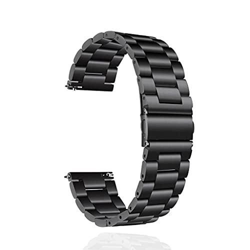 SLSFJLKJ Bracelet de Montre de Remplacement Bracelet de Montre en Acier Inoxydable de 20 mm (Color : Black, Size : 20mm)