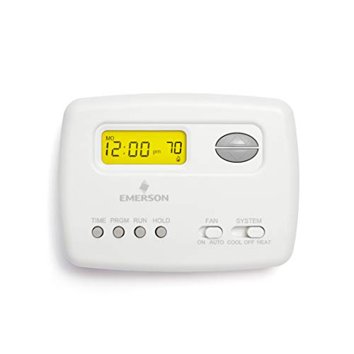 Emerson 1F78-151 Single-Stage Programmable Digital Thermostat, 5-2 Day