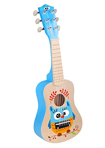 TOYSTER'S Wooden Toy Guitar Ukulele with Real Tuning |...
