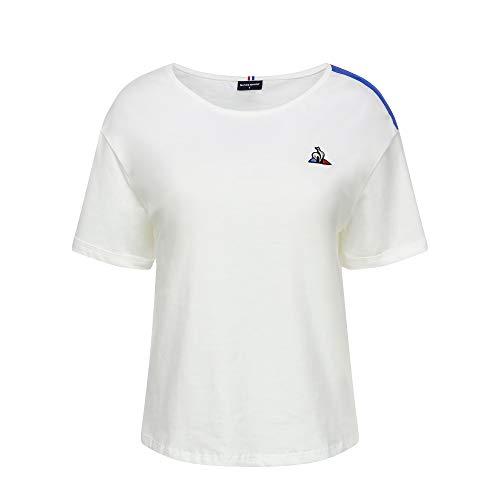 Le Coq Sportif Tri Tee SS N°3 T-Shirt pour Femme S Blanc (New Optical White)