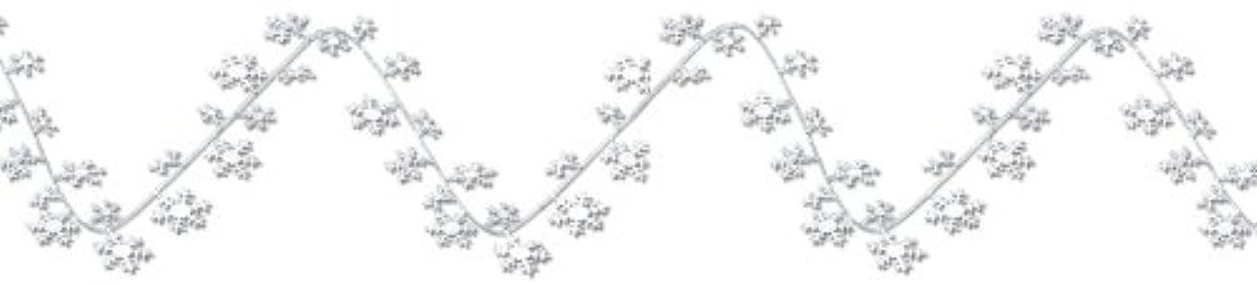 Beistle 1-Pack Gleam 'N Flex Snowflake Garland, 25-Feet