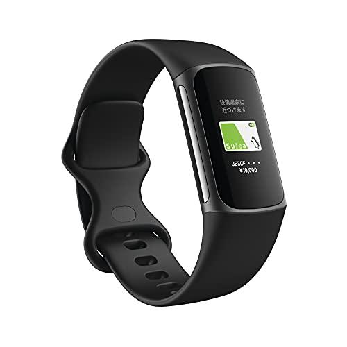 【Suica対応】 Fitbit Charge5 GPS搭載フィットネストラッカー ブラック/グラファイト ステンレススチール L/Sサイズ [日本正規品] FB421BKBK-FRCJK