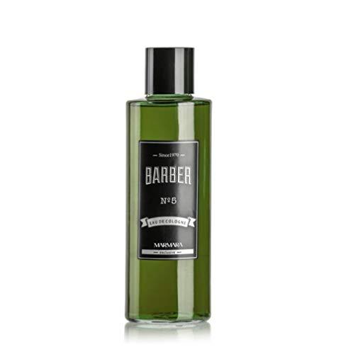 BARBER MARMARA No.5 Eau de Cologne Men Splash en botella de vidrio 1x 500ml - After Shave Men - Agua perfumada - Refresca los refrescos - Perfumados para hombre - Colonia de barbería