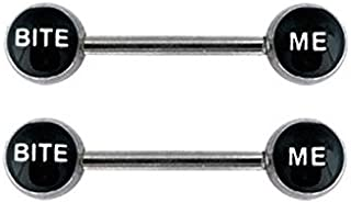 Bite Me 14g Nipple Barbell Bars-Sold as Pair