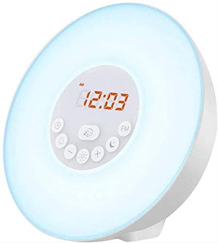 VJRQM Alarm Clock Wake Up Light-sunrise/sunset Simulation Table Bedside Lamp Eyes Protection