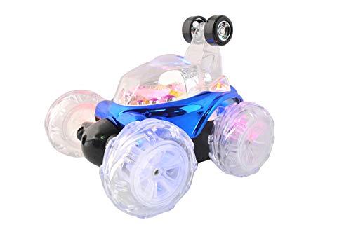 ISO TRADE Twister RC Auto Rot/Blau 40Mhz 360° Drehung LED Musik 20Min Fahren Überschläge 4694, Farbe:Blau