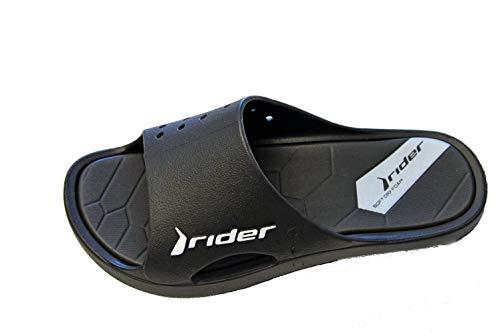 Rider Bay X AD, Chanclas Hombre, Black/White, 44 EU