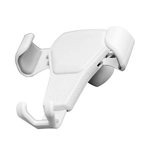 KKmoon Soporte para Teléfono,Soporte Móvil Coche con Sensor de Gravedad con Ventilación de Aire Portateléfono con Clip(Blanco)