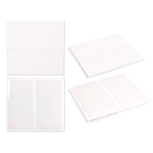 Self Adhesive Pockets with Labels Blank Cards (3 x 5.9 in, 24 Pieces)