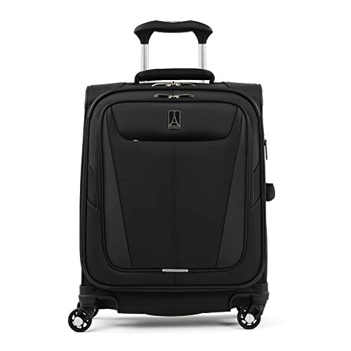 Travelpro Maxlite 5-Softside Expandable Spinner Wheel Luggage, Black, Carry-On 19-Inch