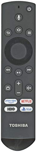 Toshiba CT-RC1US-19 OR Insignia NS-RCFNA-19 Fire TV Remote Control [Original/OEM] - RF/Smart/Voice Remote for Toshiba 50LF621U19 55LF621U19 50LED2160P 55LED2160P 49LF421U19 TF-50A810U19