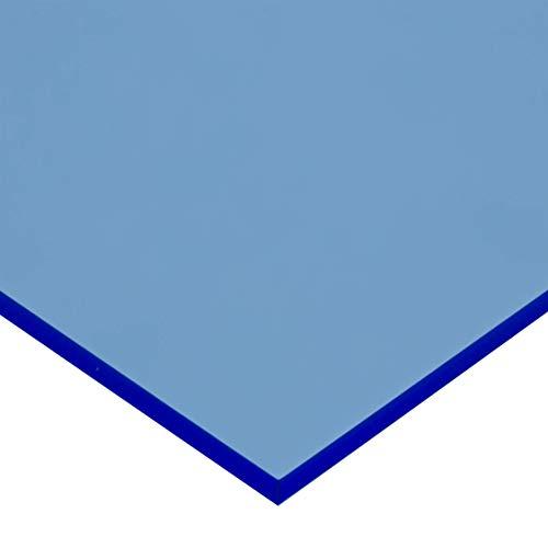in-outdoorshop Plexiglas® Zuschnitt Acrylglas Platte fluoreszierend (200mm x 300mm x 3mm, blau fluoreszierend)