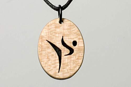 Karate, Kampfkunst Sportschmuck Holzschmuck. Handarbeit für die Freunde von Judo, Kendo, Tai Chi, Laubsägearbeit aus hellem Holz.