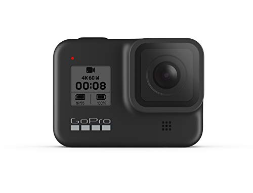 GoPro HERO8 Black - Waterproof 4K Digital Action Camera with Hypersmooth Stabilisation, Touch Screen and Voice Control - Live HD Streaming