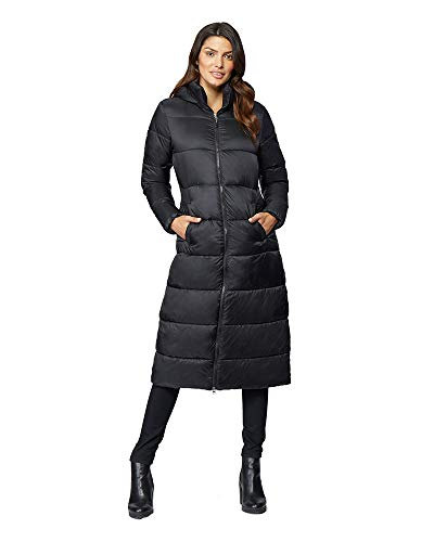 Womens Midweight Cloudfill Maxi Puffer Coat, Black, Size Large
