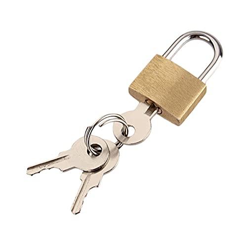 Candado de bloqueo de seguridad, Candado, Mini candado de cobre para los casilleros con 3 llaves de viaje Candados de viaje para equipaje Caja de casillero de gimnasio Caja pequeña Cerradura de cobre